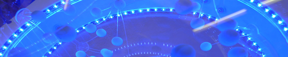 lighting model blue led interactive exhibit